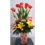 Toronjada de tulipanes